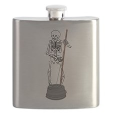 Skeleton Washtub Bass Player Flask
