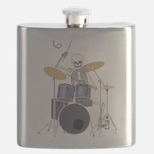 Skeleton Drummer Flask