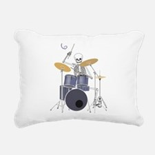 Skeleton Drummer Rectangular Canvas Pillow