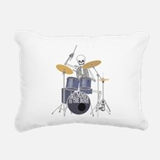 Bone Drummer Rectangular Canvas Pillow