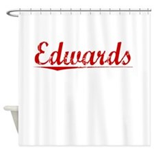 Edwards, Vintage Red Shower Curtain