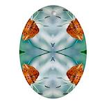 Tigerlily Reflection Oval Ornament