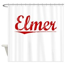 Elmer, Vintage Red Shower Curtain