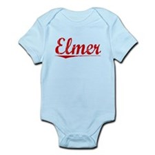Elmer, Vintage Red Infant Bodysuit