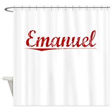 Emanuel, Vintage Red Shower Curtain