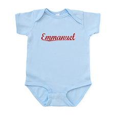 Emmanuel, Vintage Red Infant Bodysuit