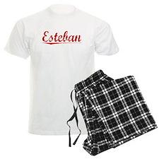 Esteban, Vintage Red Pajamas