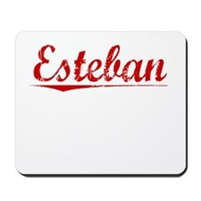 Esteban, Vintage Red Mousepad
