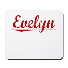 Evelyn, Vintage Red Mousepad