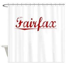 Fairfax, Vintage Red Shower Curtain