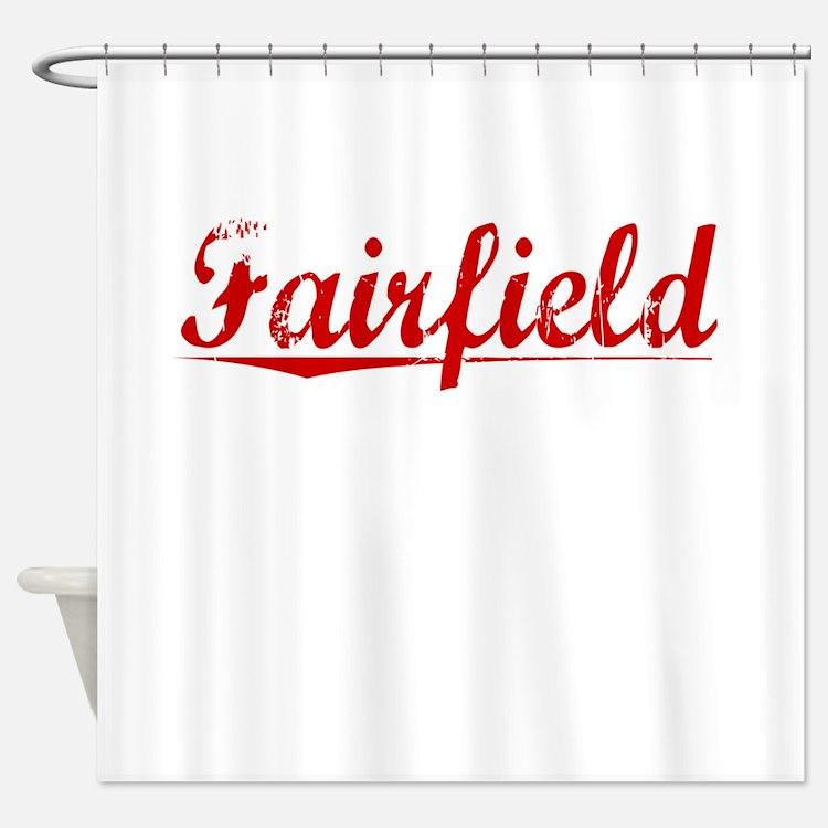 Fairfield, Vintage Red Shower Curtain