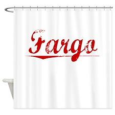 Fargo, Vintage Red Shower Curtain