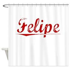 Felipe, Vintage Red Shower Curtain