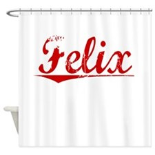 Felix, Vintage Red Shower Curtain