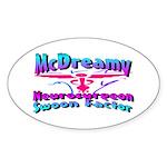 McDreamy Oval Sticker