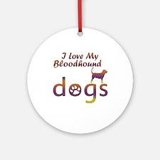 Bloodhound designs Ornament (Round)