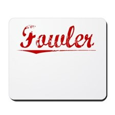 Fowler, Vintage Red Mousepad