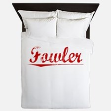 Fowler, Vintage Red Queen Duvet