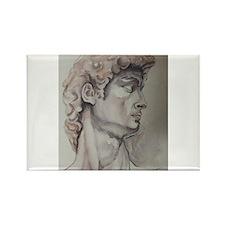 David de Michelangelo Rectangle Magnet