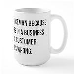 Became a policeman Large Mug