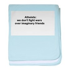 atheists don't fight wars baby blanket