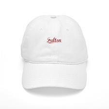 Fulton, Vintage Red Baseball Cap
