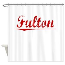 Fulton, Vintage Red Shower Curtain