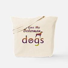 Doberman designs Tote Bag
