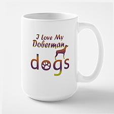 Doberman designs Large Mug