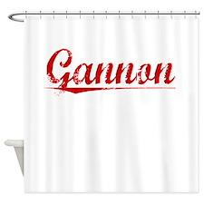 Gannon, Vintage Red Shower Curtain