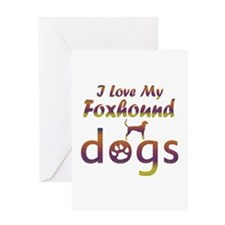 Foxhound designs Greeting Card