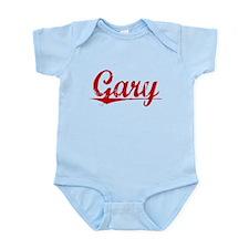 Gary, Vintage Red Infant Bodysuit