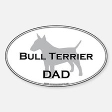 Bull Terrier DAD Oval Decal