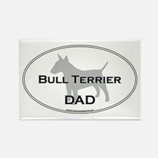 Bull Terrier DAD Rectangle Magnet