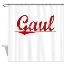 Gaul, Vintage Red Shower Curtain