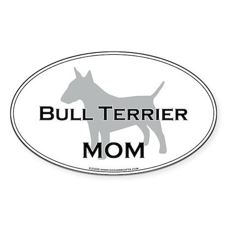 Bull Terrier MOM Oval Sticker