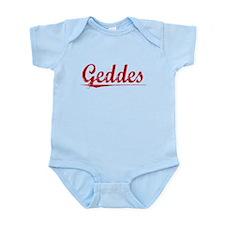 Geddes, Vintage Red Infant Bodysuit