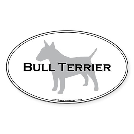 Bull Terrier Oval Sticker