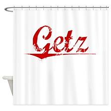 Getz, Vintage Red Shower Curtain