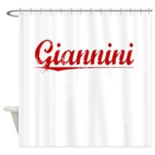 Giannini, Vintage Red Shower Curtain