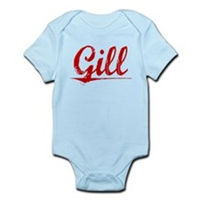 Gill, Vintage Red Infant Bodysuit