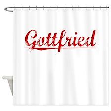 Gottfried, Vintage Red Shower Curtain