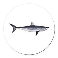 Shortfin Mako Shark Round Car Magnet