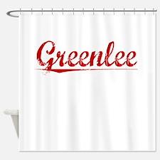 Greenlee, Vintage Red Shower Curtain