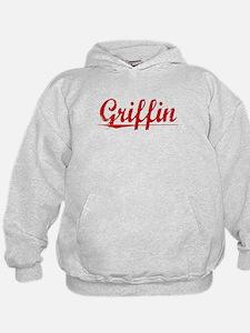 Griffin, Vintage Red Hoodie