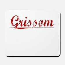 Grissom, Vintage Red Mousepad