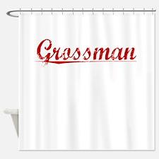 Grossman, Vintage Red Shower Curtain
