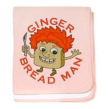 Funny Gingerbread Man baby blanket