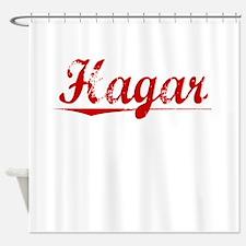 Hagar, Vintage Red Shower Curtain