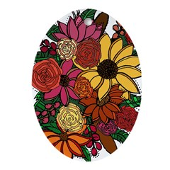 Bouquet Oval Ornament